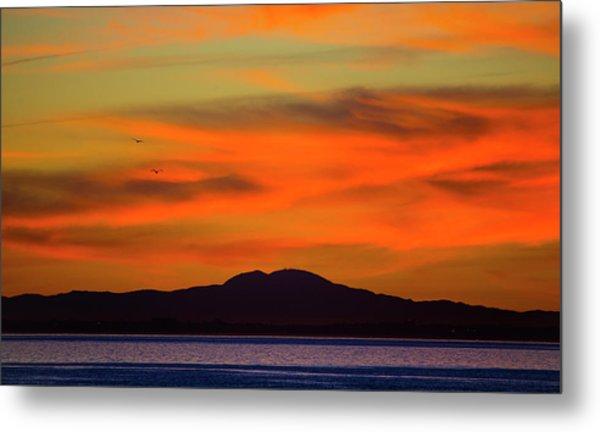 Sunrise Over Santa Monica Bay Metal Print