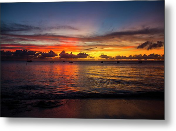 Sunset 4 No Filter Metal Print
