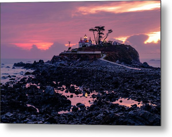 Sunset And Low Tide At Battery Point Metal Print