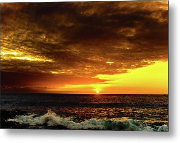 Sunset And Surf Metal Print