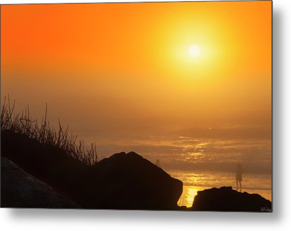 Sunset At Beverly Beach On The Oregon Coast Metal Print