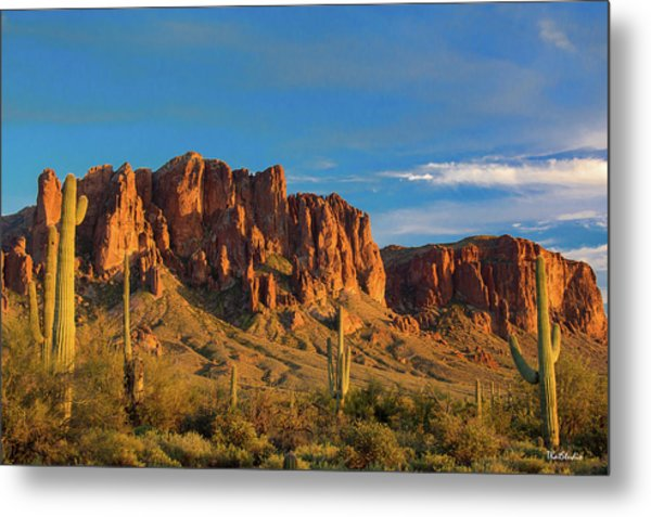 Sunset At Superstition Mountain Metal Print