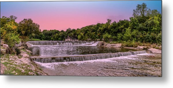 Sunset At The Falls Metal Print