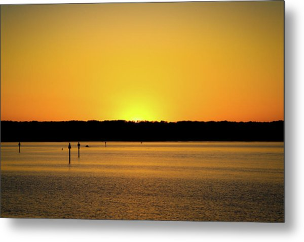 Sunset From National Harbor Metal Print