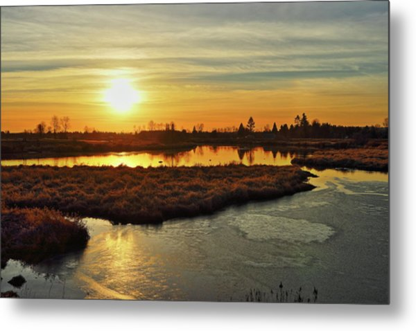 Sunset In Pitt Meadows Metal Print
