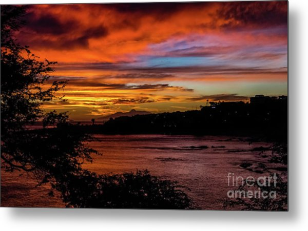 Sunset In Praia, Cape Verde Metal Print