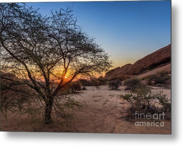 Sunset In Spitzkoppe, Namibia Metal Print