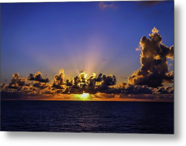 Metal Print featuring the photograph Sunset In The Bahamas by Dawn Richards