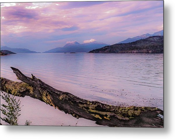 Sunset In Ushuaia Metal Print