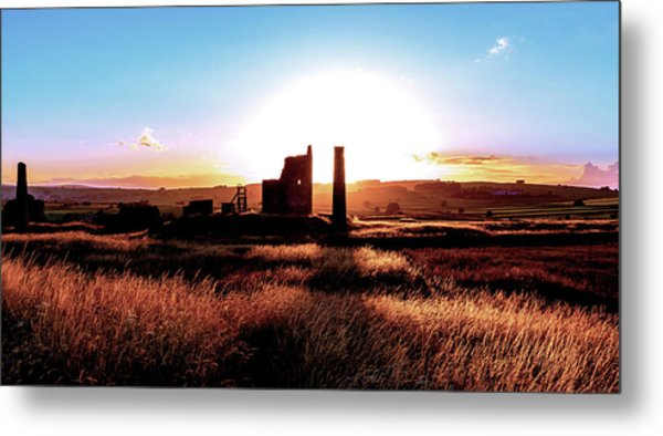 Sunset. Magpie Mine. Metal Print