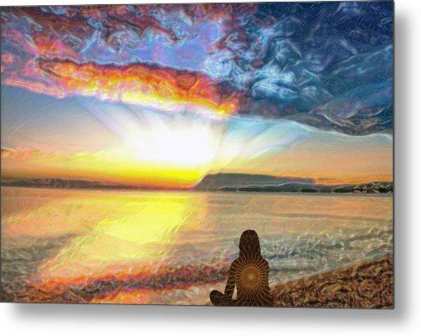Sunset Meditation Metal Print