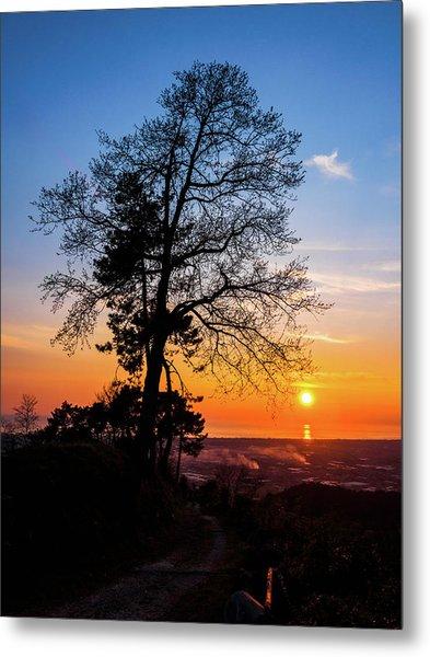 Sunset - Monte D'oro Metal Print
