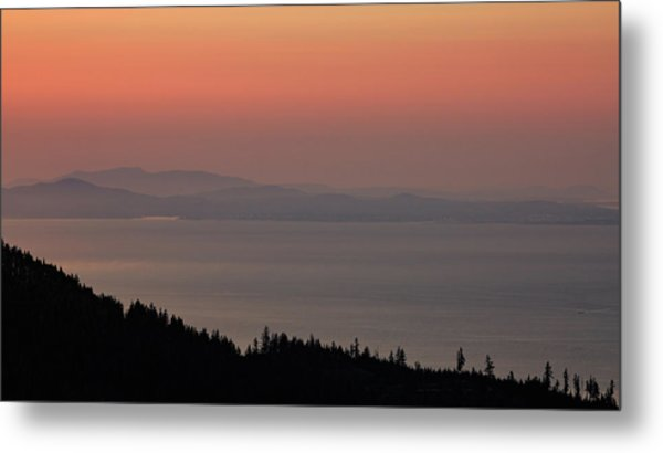Sunset Of The Olympic Mountains Metal Print