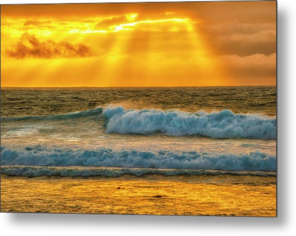 Sunset On A Rainy Day Metal Print by Fernando Margolles