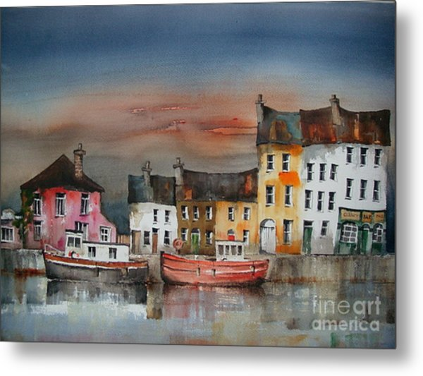 Metal Print featuring the painting Sunset On  Cloondra, Co. Longford by Val Byrne