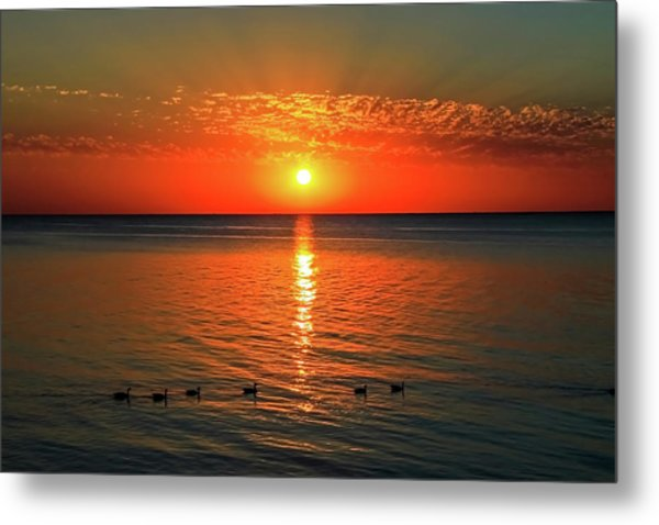 Metal Print featuring the photograph Sunset On Green Bay by Dawn Richards
