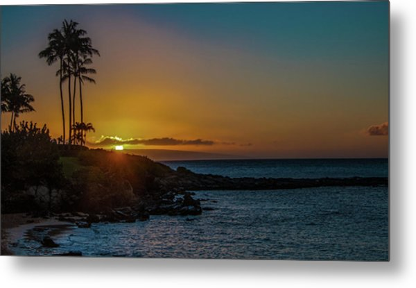 Sunset On Kapalua Metal Print