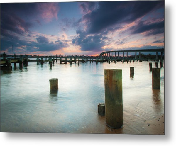 Metal Print featuring the photograph Sunset On The Severn River by Mark Duehmig