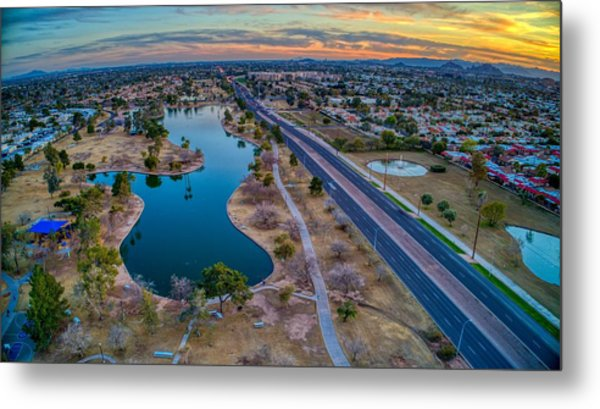 Sunset Over Chaparral  Metal Print