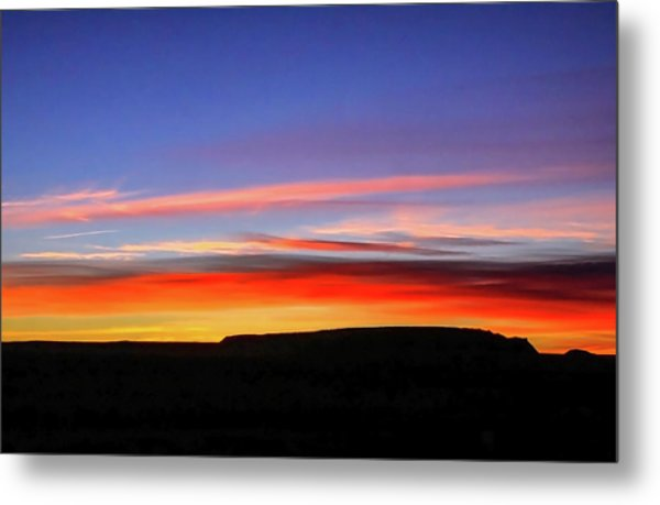 Sunset Over Navajo Lands Metal Print