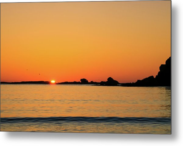 Metal Print featuring the photograph Sunset Over Sunset Bay, Oregon 4 by Dawn Richards