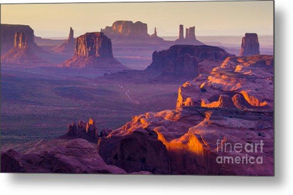 Sunset Over The Hunts Mesa Metal Print