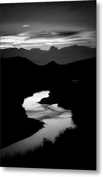 Sunset Over The Rio Grande Metal Print by Kim Kozlowski Photography, Llc