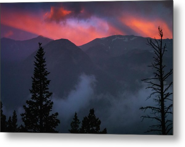 Sunset Storms Over The Rockies Metal Print