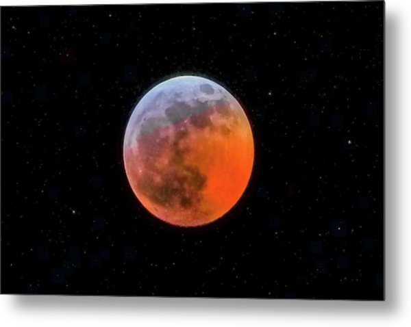 Super Blood Moon Eclipse 2019 Metal Print