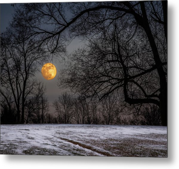 Super Blue Moon Rising 3 Metal Print