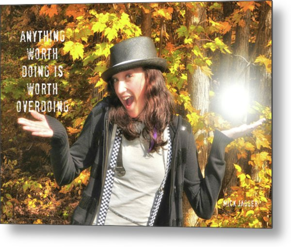 Superstar Quote Metal Print by JAMART Photography