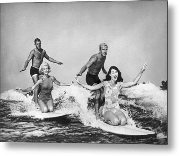 Surfers In California 1965 Metal Print