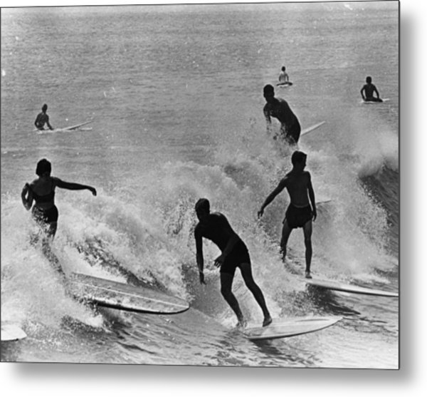 Surfing Derby Metal Print