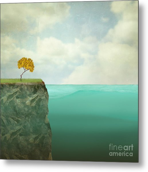 Surreal Illustration Of A Small Tree Metal Print by Valentina Photos
