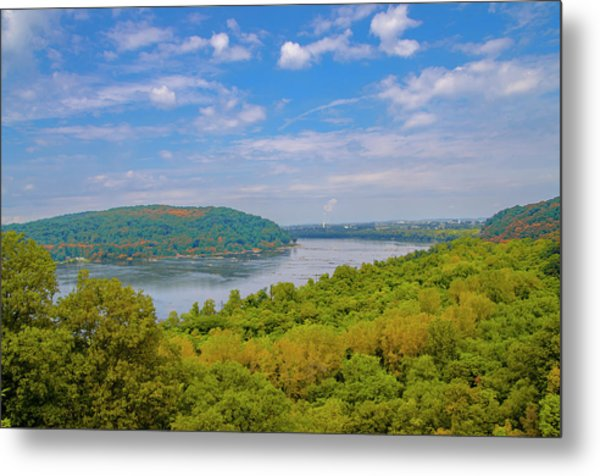 Susquehanna River In Autumn Metal Print