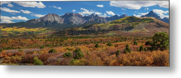 Sw Autumn Colorado Rocky Mountains Panoramic View Pt1 Metal Print by James BO Insogna