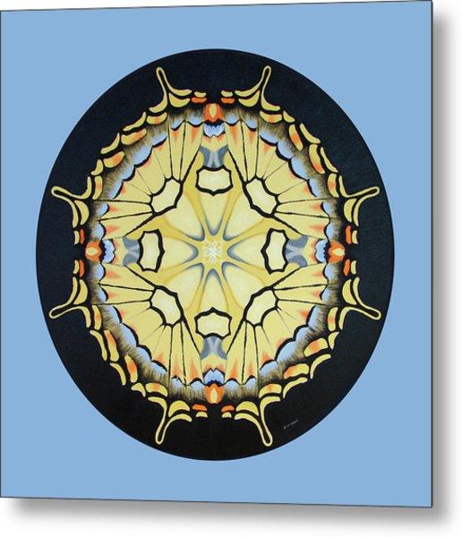 Swallowtail Mandala Metal Print