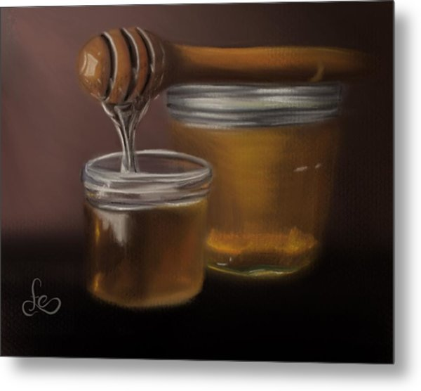 Metal Print featuring the painting Sweet Honey by Fe Jones