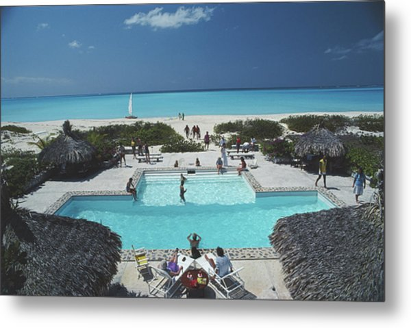 Swimming Pool On The Beach Metal Print
