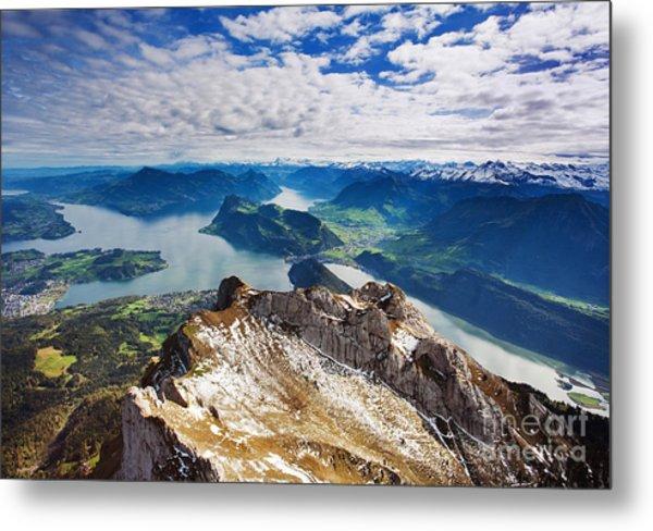 Swiss Alps View From Mount Pilatus Metal Print