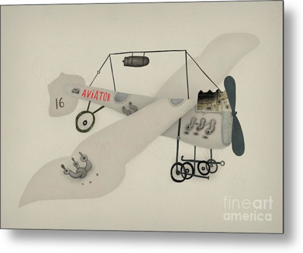 Symbolic Image Of A Sport Airplane Metal Print