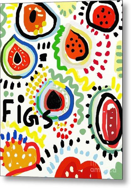 Symbolic Image Of Fig Fruits Metal Print