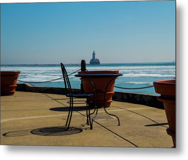 Table For One Metal Print