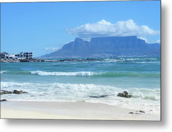 Table Mountain Cape Town Metal Print