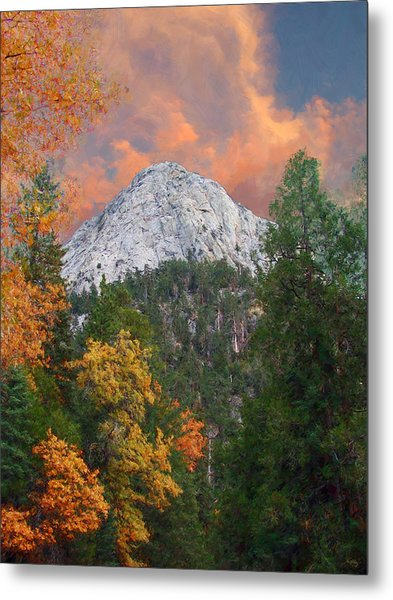 Tahquitz Peak - Lily Rock Painted Version Metal Print