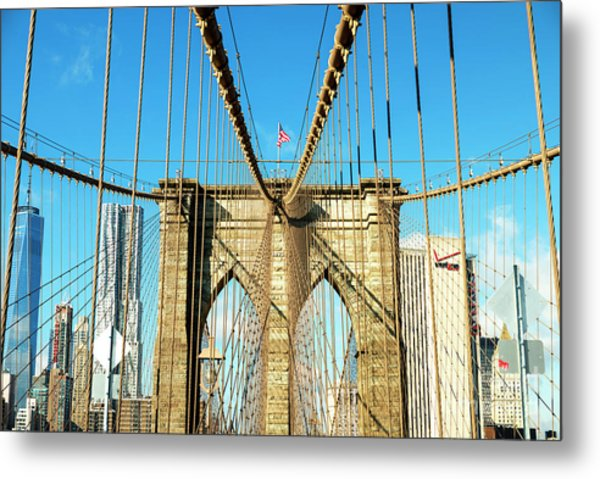 Take It To The Brooklyn Bridge Metal Print