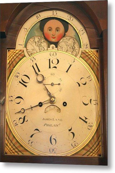 Tall Case Clock Face, Around 1816 Metal Print