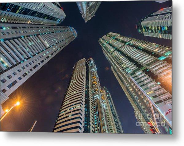 Tall Residential Buildings In Dubai Metal Print