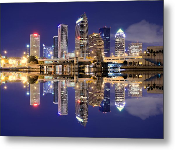 Tampa Bay Skyline Metal Print