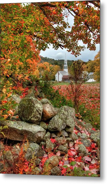 Metal Print featuring the photograph Tamworth Congregational Church - Tamworth, Nh by Joann Vitali